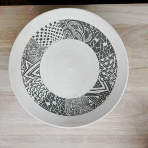 Porcelaine et engobe